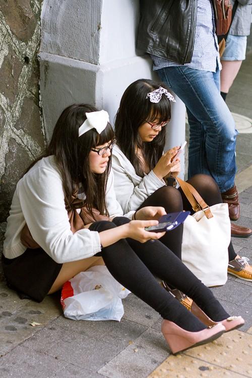 Японки школьниц под юбкой