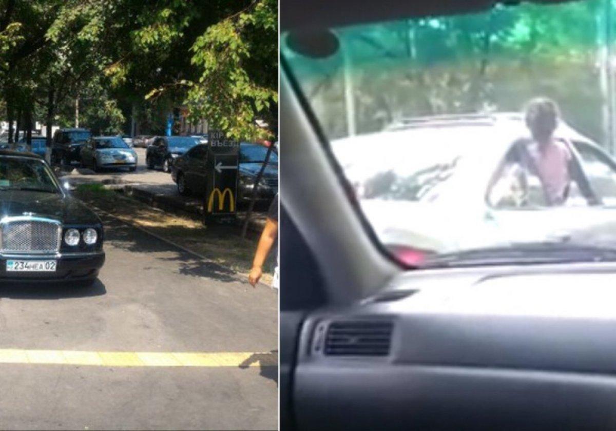 Сотрудники полиции остановили автомобиль, из окон которого высовывались люди с пистолетом и автоматом