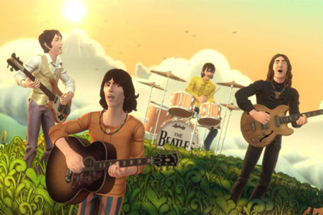 Скриншот игры The Beatles: Rock Band. Фотоиллюстрация с сайта gogaminggiant.com