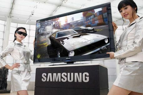 3d телевизор от Samsung. Фото с сайта techgadgets.in