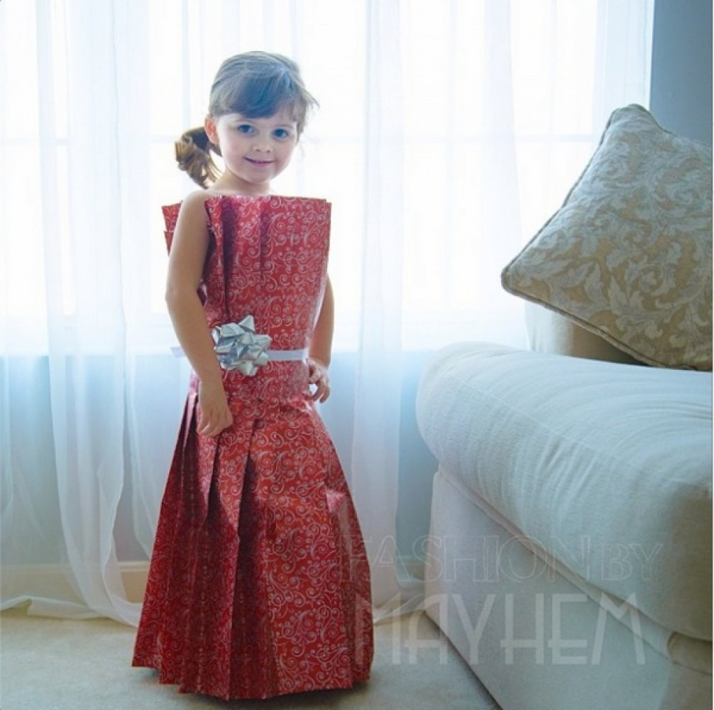 Платье с подручных материалов своими руками фото