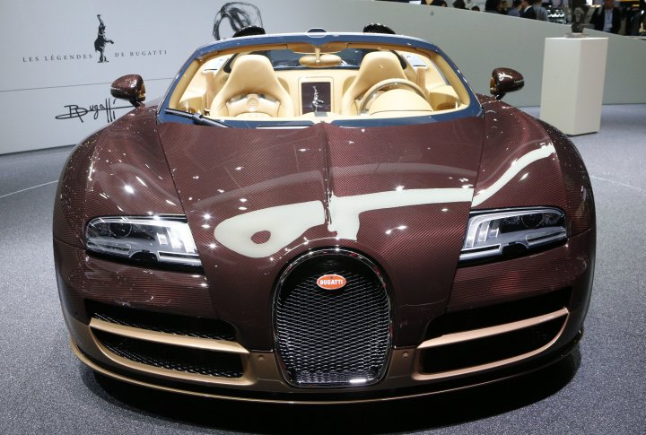 Bugatti Veyron Grand Sport Vitesse Rembrandt limited edition. ©REUTERS