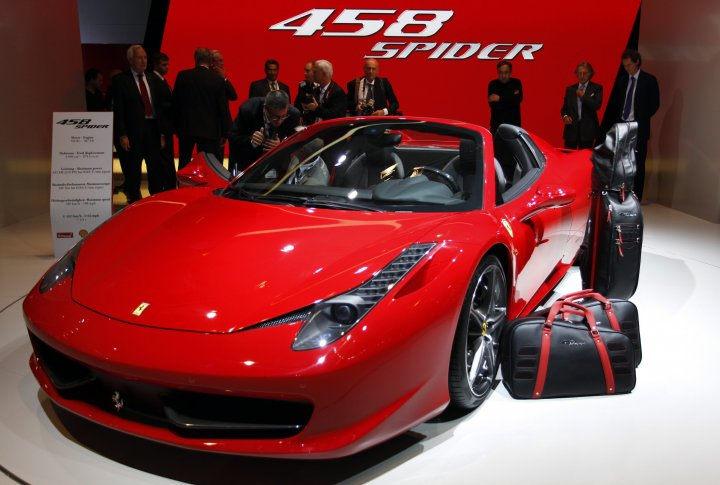 Ferrari 458 Spider. ©REUTERS
