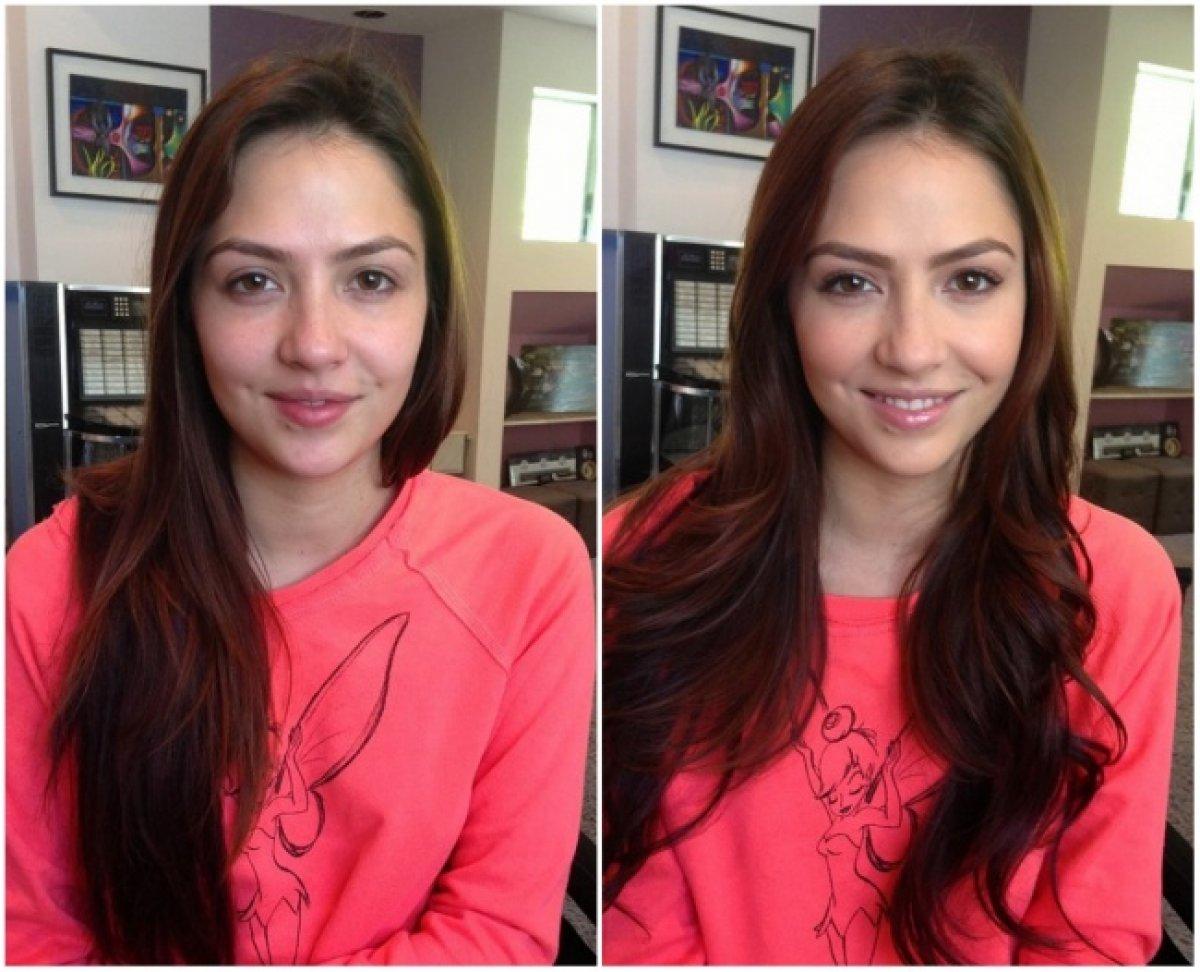 Девушки без макияжа фото до и после