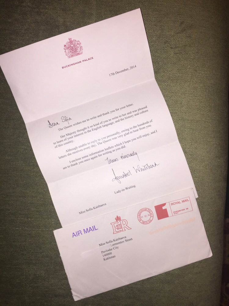 Kazakh Student Gets Response Letter From Queen Elizabeth