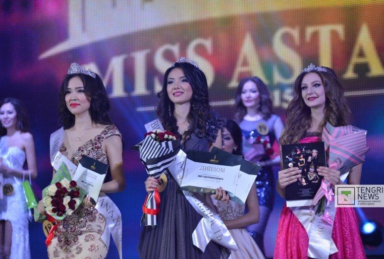 Титул первой вице-мисс получила Бану Кадырханова, второй вице-мисс стала Гаухар Жумагатова, и третья вице-мисс - Виктория Алексеева. Фото Турар Казангапов ©