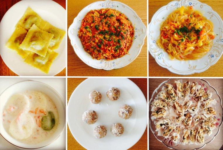 Блюда виртуального ресторана Гульшат Примкуловой.