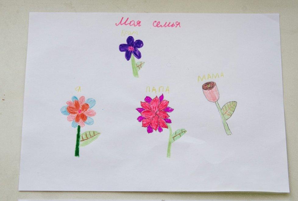 <p>12-летняя девочка очень привязана к отцу и в тоже время не забывает про ту самую женщину, у которой жила восемь месяцев. Ее она называет своей мамой и рисует в виде розы.</p>
