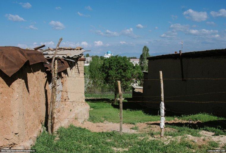 Некоторые дома построены из самана.