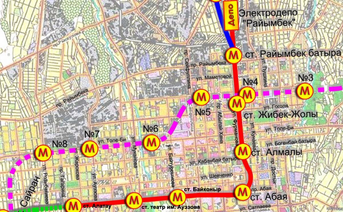 фото карта алматы