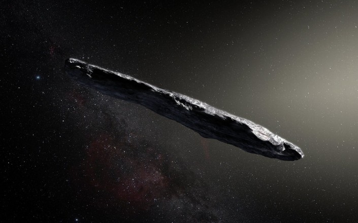 Астероид 1I  Оумуамуа в представлении художника
