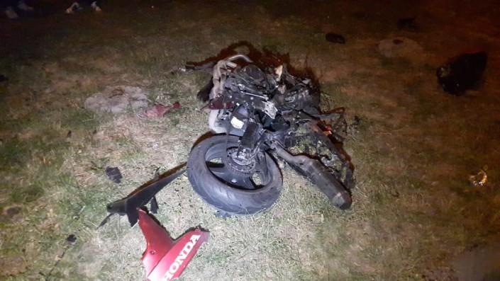 Мотоцикл разорвало на части на проспекте Абая, водитель погиб