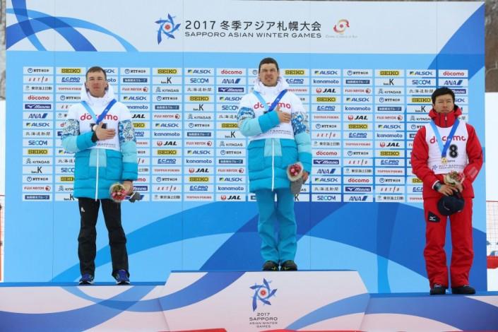 Казахстанские биатлонисты завоевали золотую исеребряную медали наАзиаде