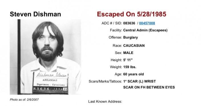 ВСША пойман уголовник , сбежавший изфедеральной тюрьмы 32 года назад