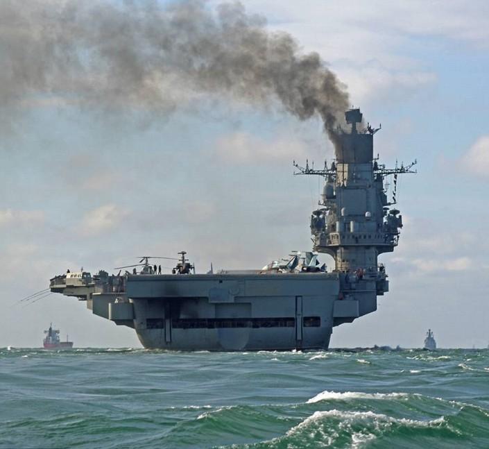Украинские клоуны решили затроллить «Адмирала Кузнецова»