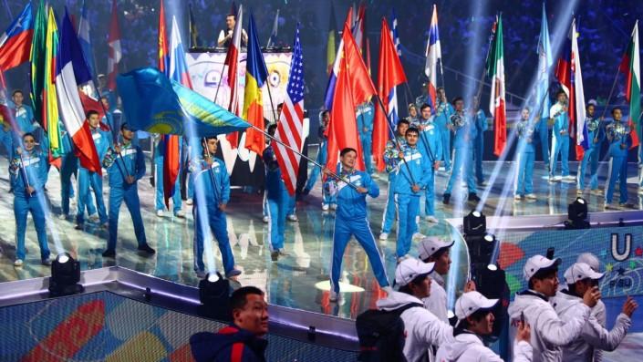 Красноярск получил флаг зимней Универсиады отАлматы