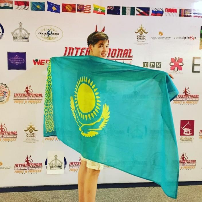 16-летний казахстанец занял I место в конкурсе красоты в Таиланде