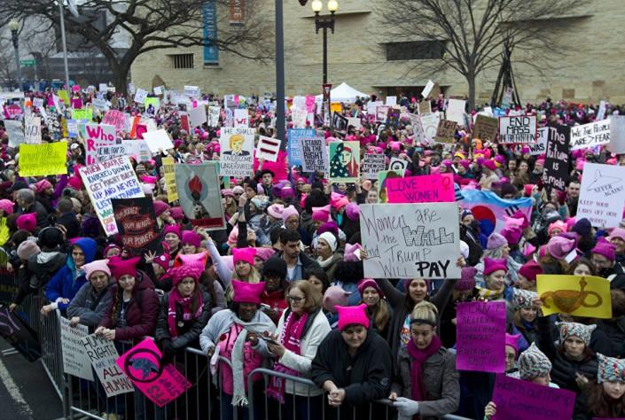 После инаугурации Трампа проходят массовые протесты по всему миру