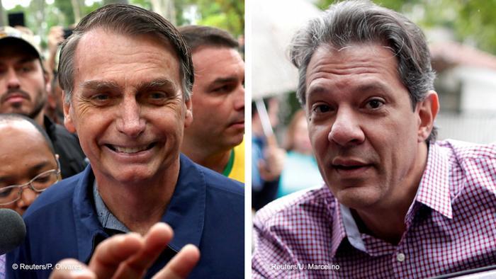 После первого тура выборов вБразилии лидирует ультраправый кандидат