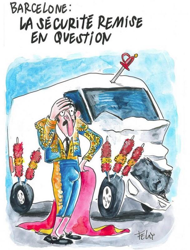 Провокационную карикатуру на теракт в Барселоне опубликовал Charlie Hebdo