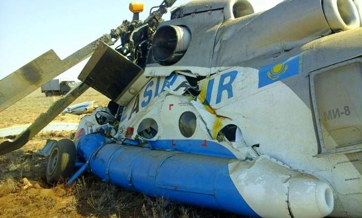 Вертолет МИ-8 разбился на западе Казахстана