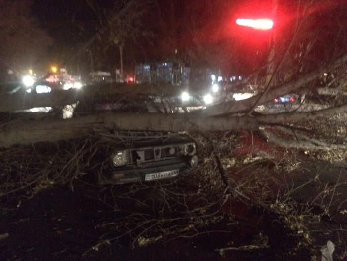Из-за урагана наюге Казахстана три человека попали в клинику