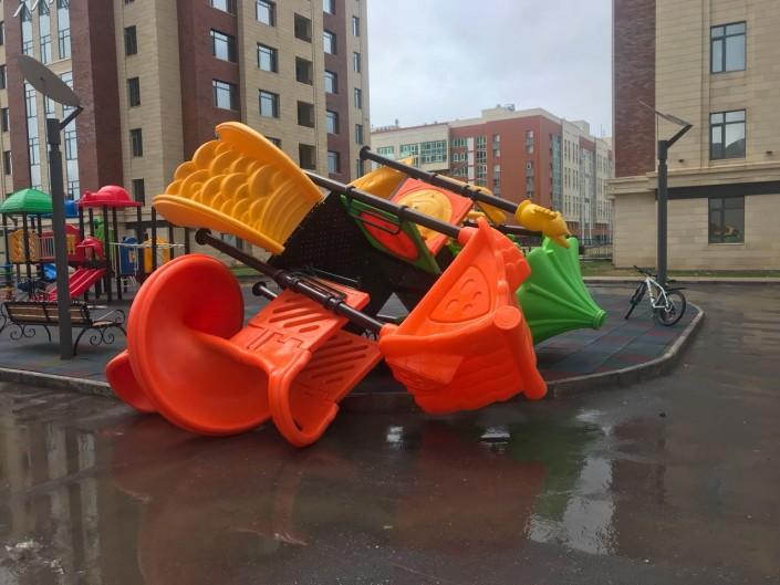"""""""Апокалипсис"""" в Астане: фото и видео последствий урагана"""