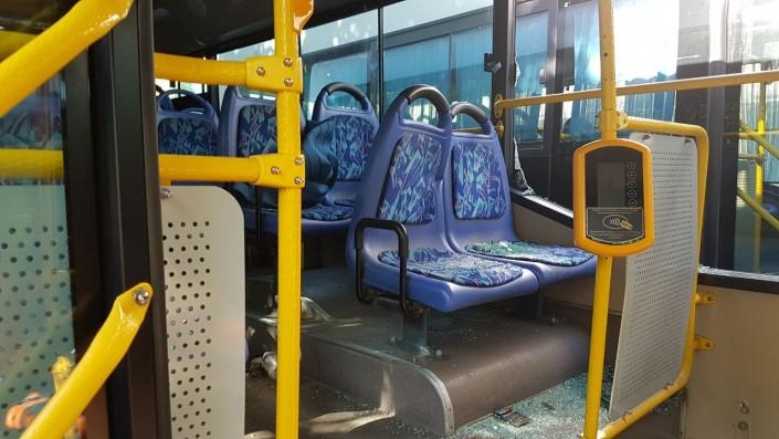 Парень в автобусе вытащил свой член