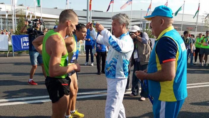 Джаксыбеков, Масимов и Мухамедиулы пробежали на марафоне ШОС в Астане