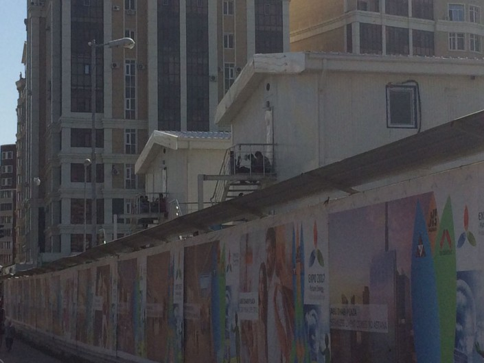 "Обстановка на площадке ""Абу-Даби Плаза"" после инцидента"