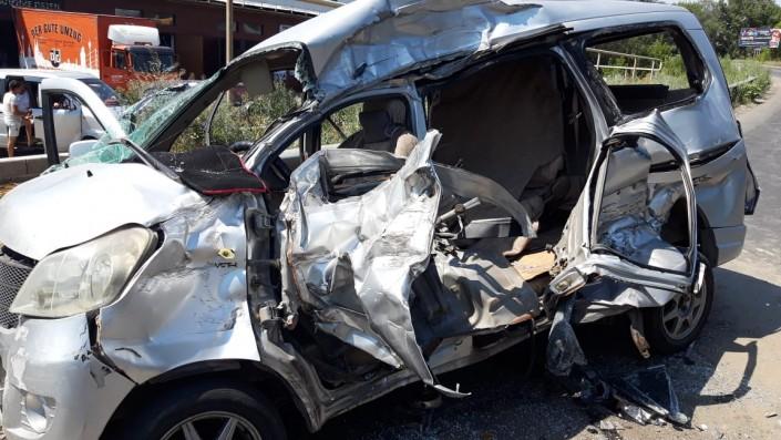 КамАЗ врезался в микроавтобус в Алматы: 8 человек в больнице