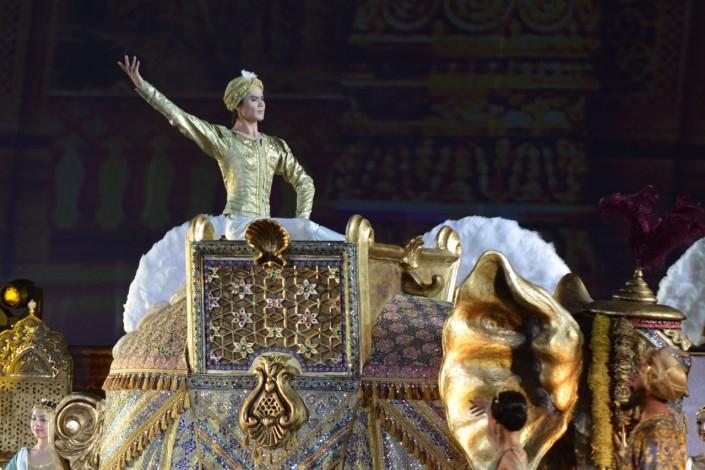 """Балет """"Баядерка"""" прошел под открытым небом в Астане"""