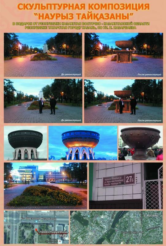 В Казани на улице имени Президента Казахстана Нурсултана Назарбаева может появиться скульптурная композиция