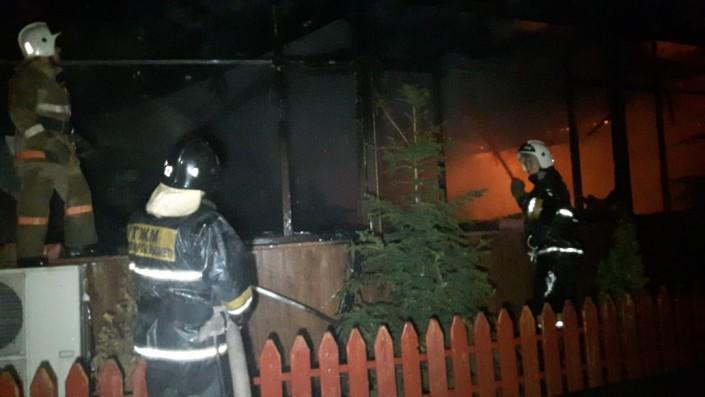 Донерная сгорела в Алматы