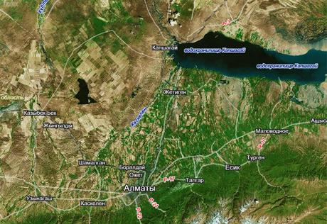 Карта районнирования г алматы
