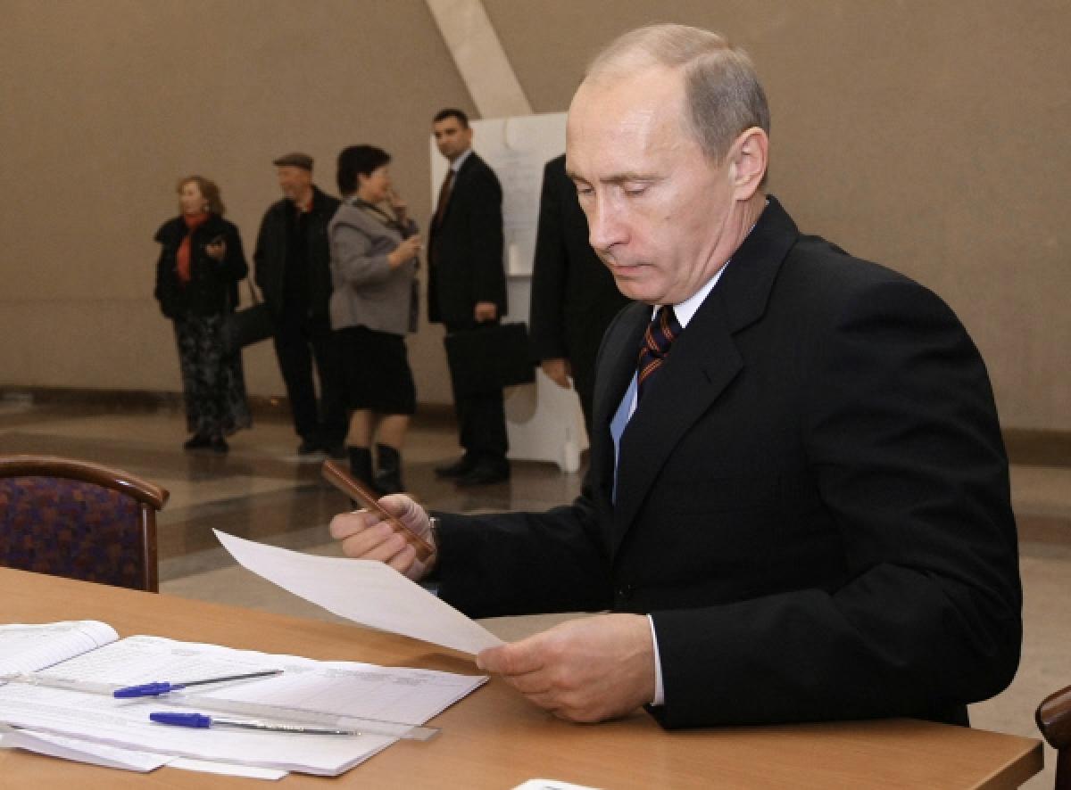 Владимир Путин проголосовал навыборах в Госдуму