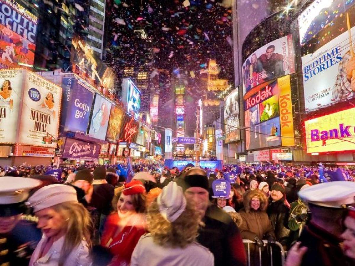 Как встречает америка новый год