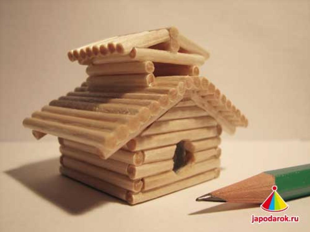 Поделка домик своими руками из дерева фото
