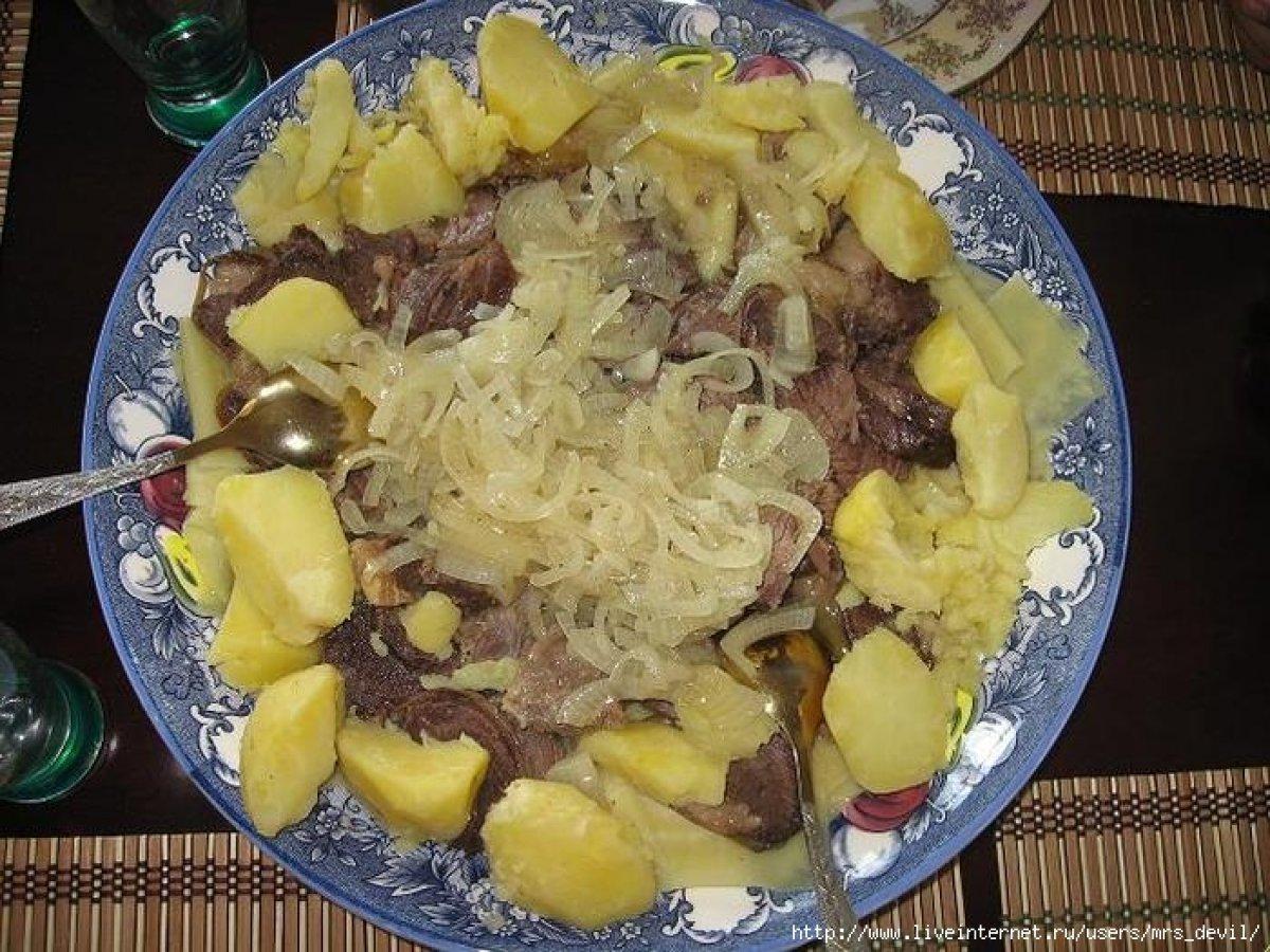 Мясо по-казахски рецепт с фотографиями