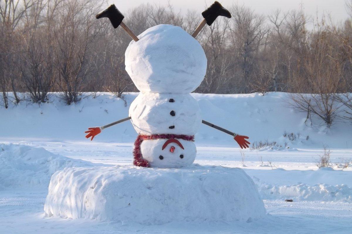Необычные снеговик своими руками
