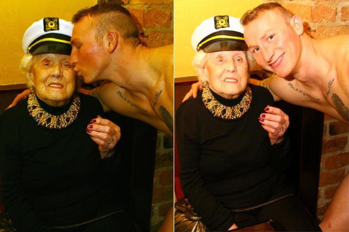 Женщина заказала на сво 100 летие мужчину стриптизера
