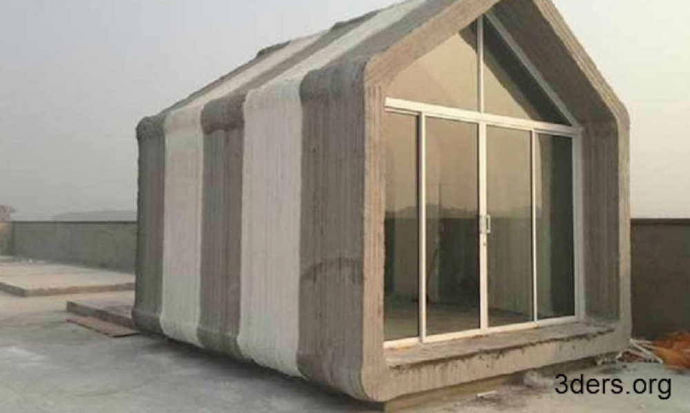 дом, созданный с помощью 3D печати