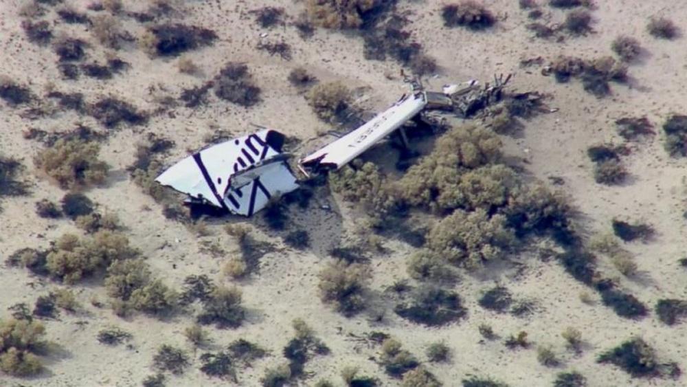 Суборбитальный космический корабль рухнул в США