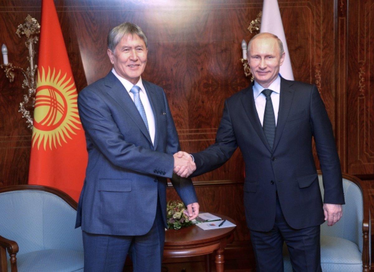 Встреча с Президентом Киргизии Алмазбеком Атамбаевым