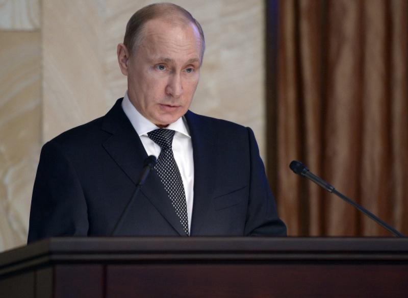 Владимир Путин на заседании коллегии ФСБ. © РИА Новости