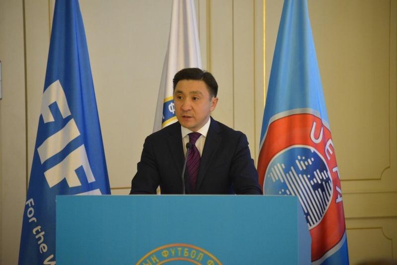 Ерлан Кожагапанов, президент Федерации футбола Казахстана