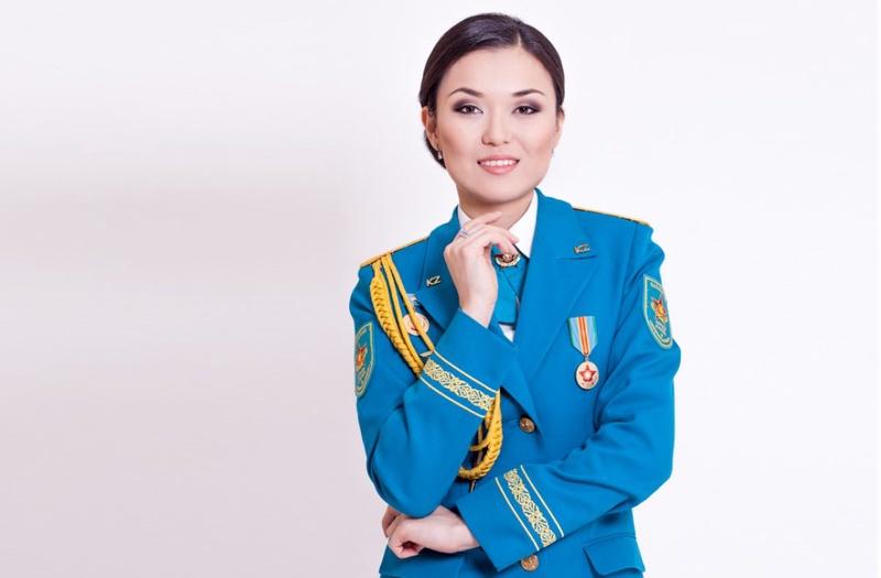 Ботагоз Мусаева участница конкурса красоты. Фото Министерства обороны РК