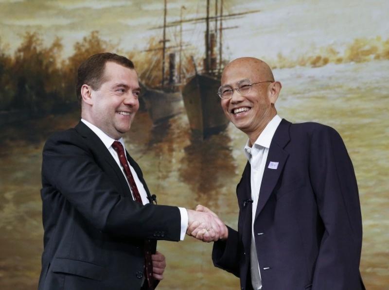 Дмитрий Медведев и Суттхичай Юн в Бангкоке. Фото ©РИА Новости, Дмитрий Астахов