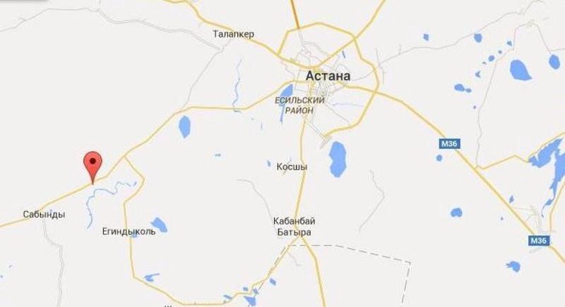 Село Оразак отмечено на карте красной галочкой. © Google Maps