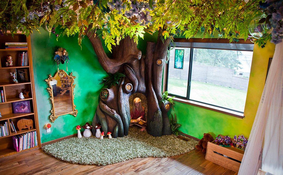Как сделать дерево в детской